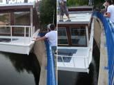 hausbot cesta z loděnice na vodu